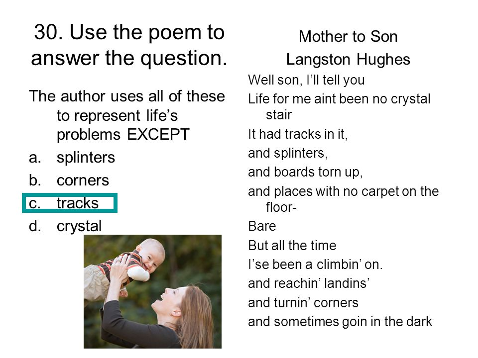 30. Use the poem to answer the question.