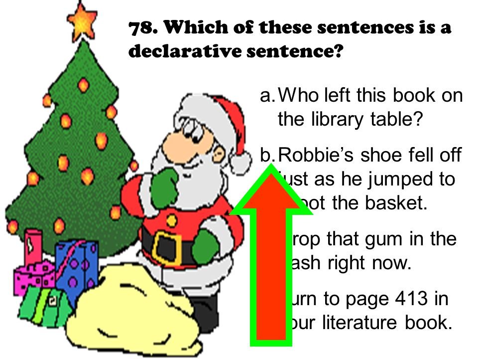 78. Which of these sentences is a declarative sentence