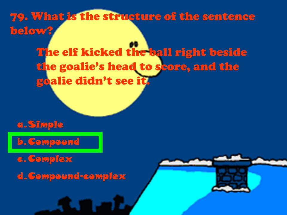 79. What is the structure of the sentence below