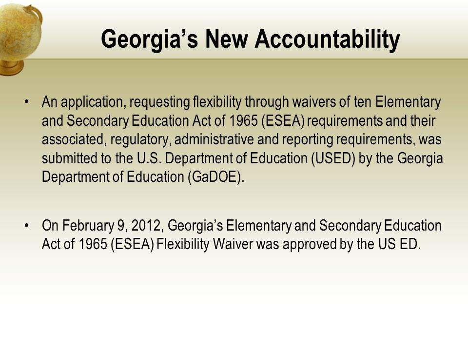 Georgia's New Accountability