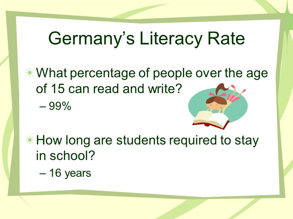 Germany's Literacy Rate