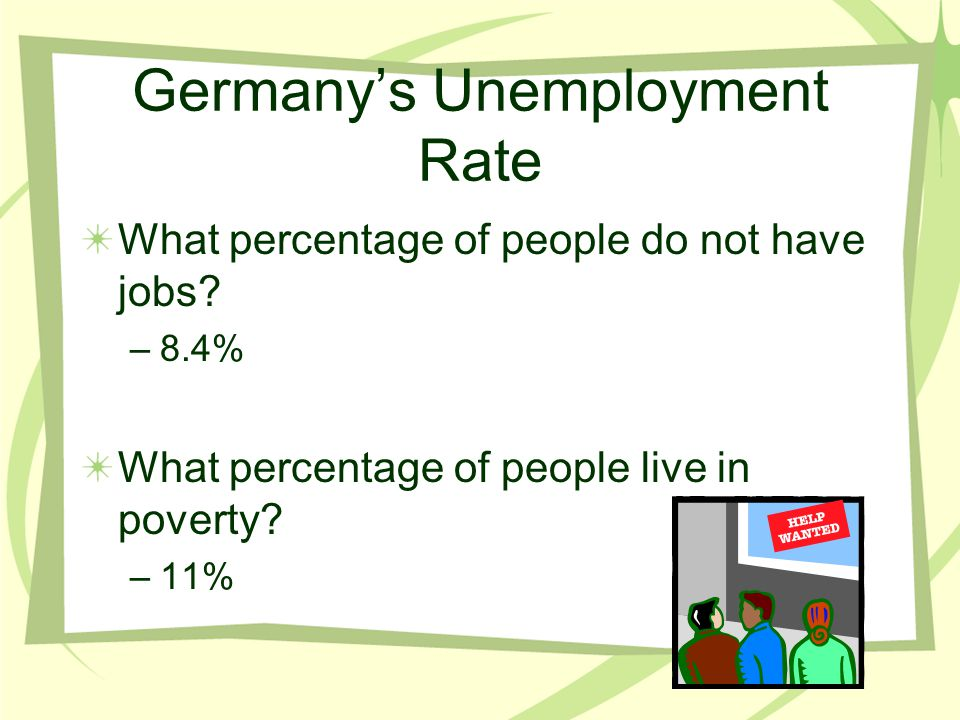 Germany's Unemployment Rate