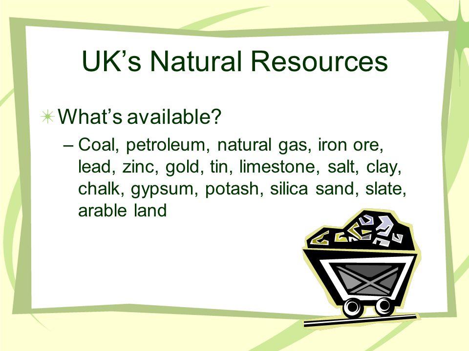 UK's Natural Resources