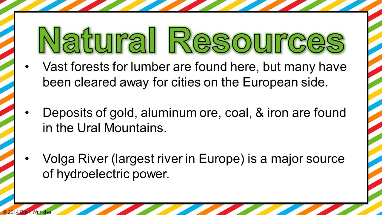 Natural Resources Vast forests for lumber are found here, but many have been cleared away for cities on the European side.