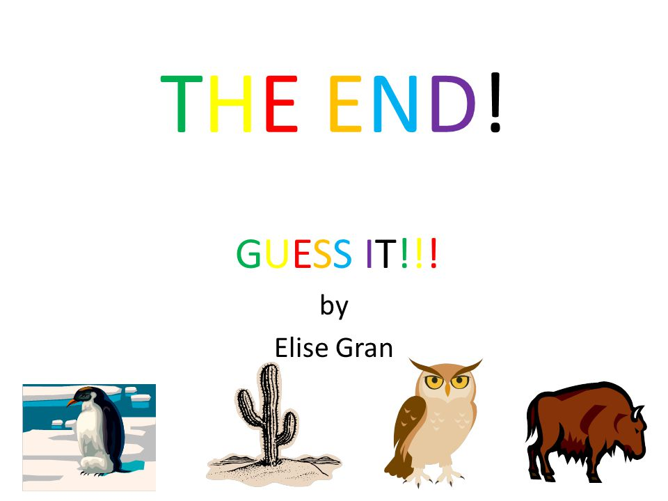 THE END! GUESS IT!!! by Elise Gran
