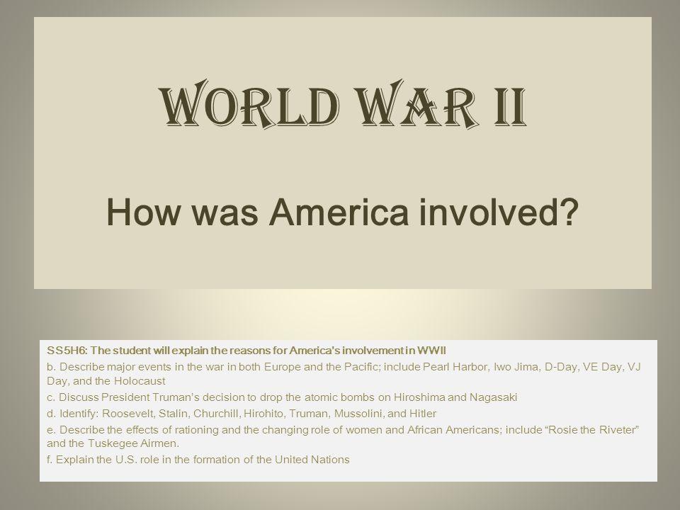 World War II How was America involved