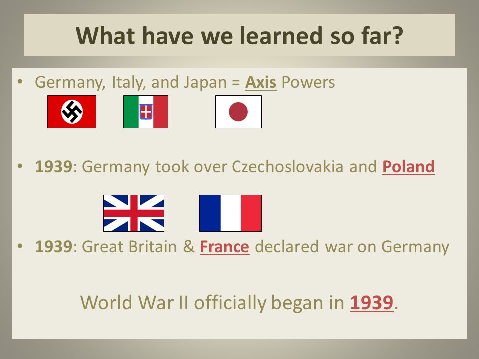 What have we learned so far