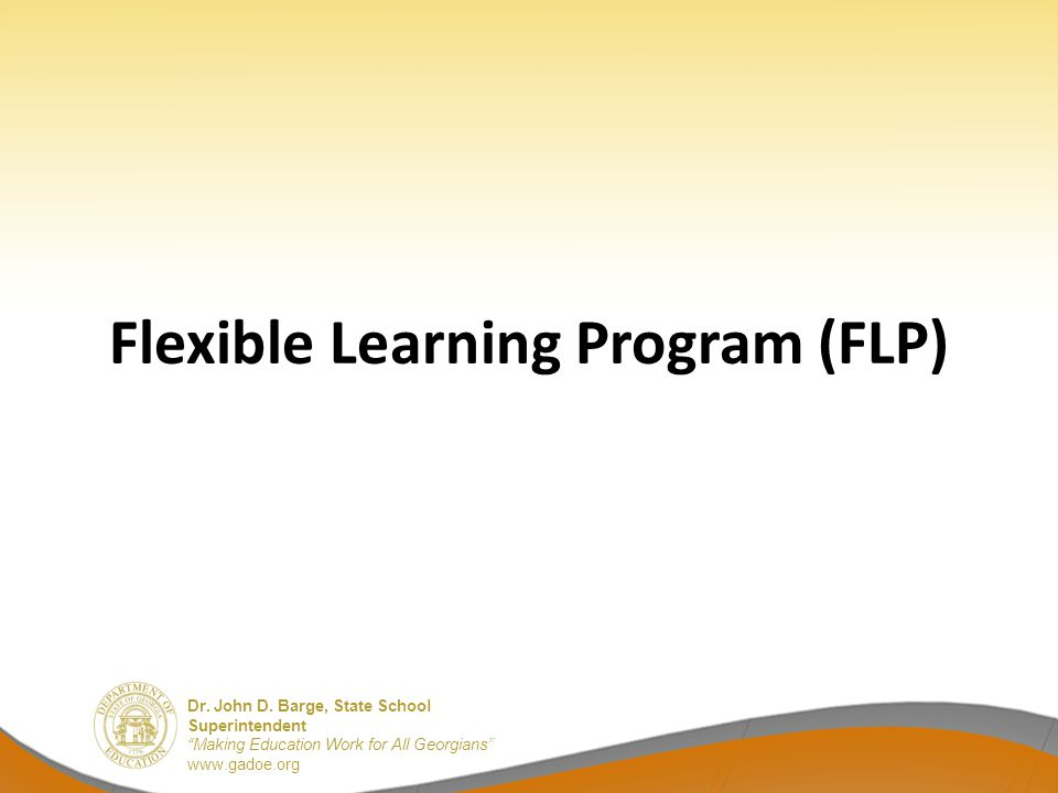 Flexible Learning Program (FLP)