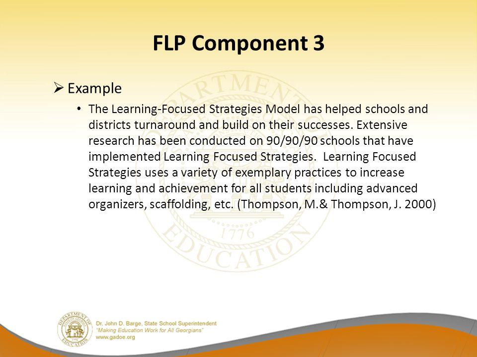 FLP Component 3 Example.