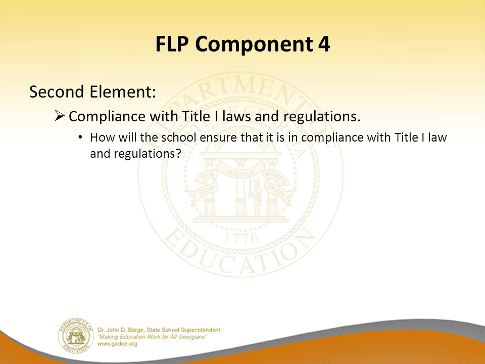 FLP Component 4 Second Element: