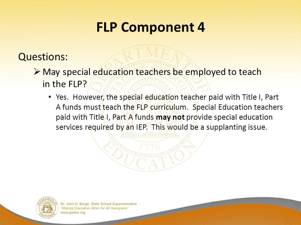 FLP Component 4 Questions: