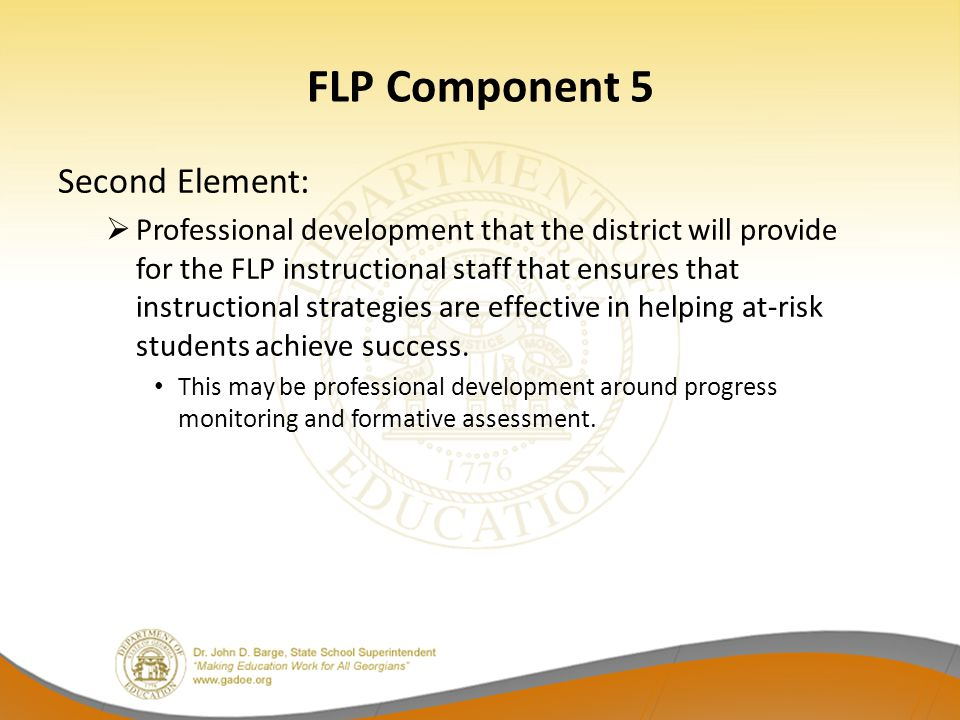 FLP Component 5 Second Element: