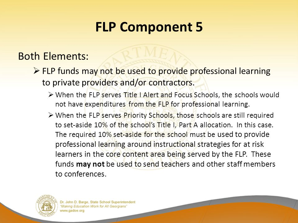 FLP Component 5 Both Elements:
