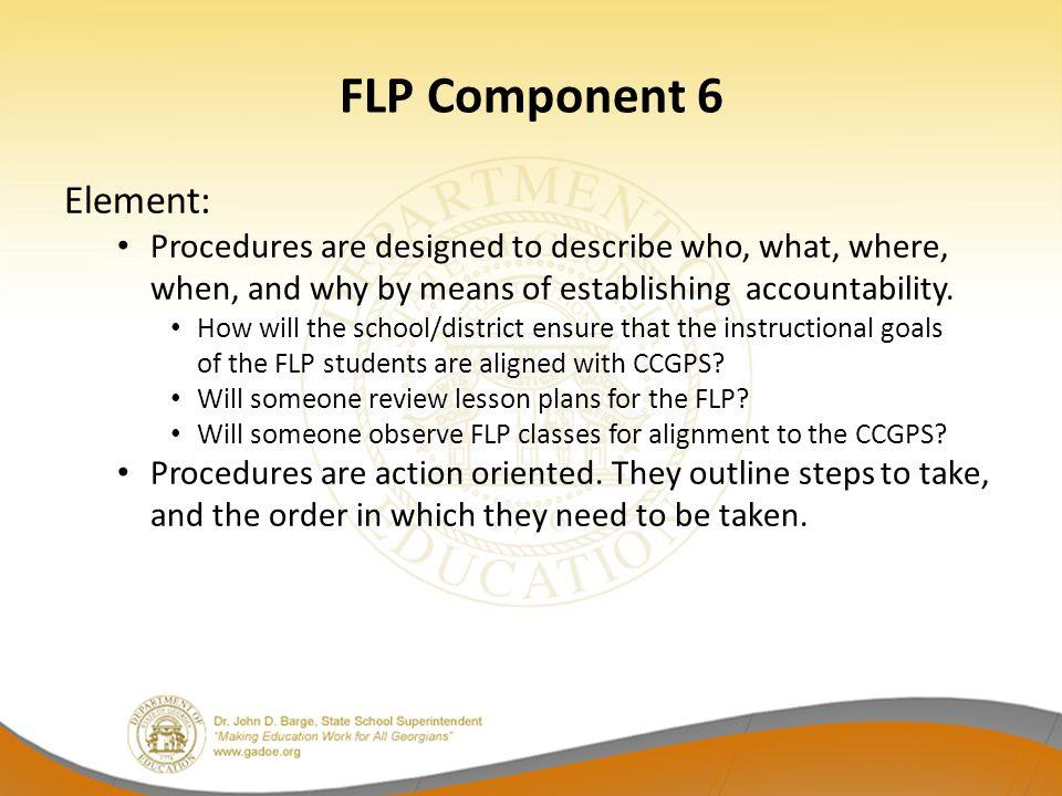 FLP Component 6 Element: