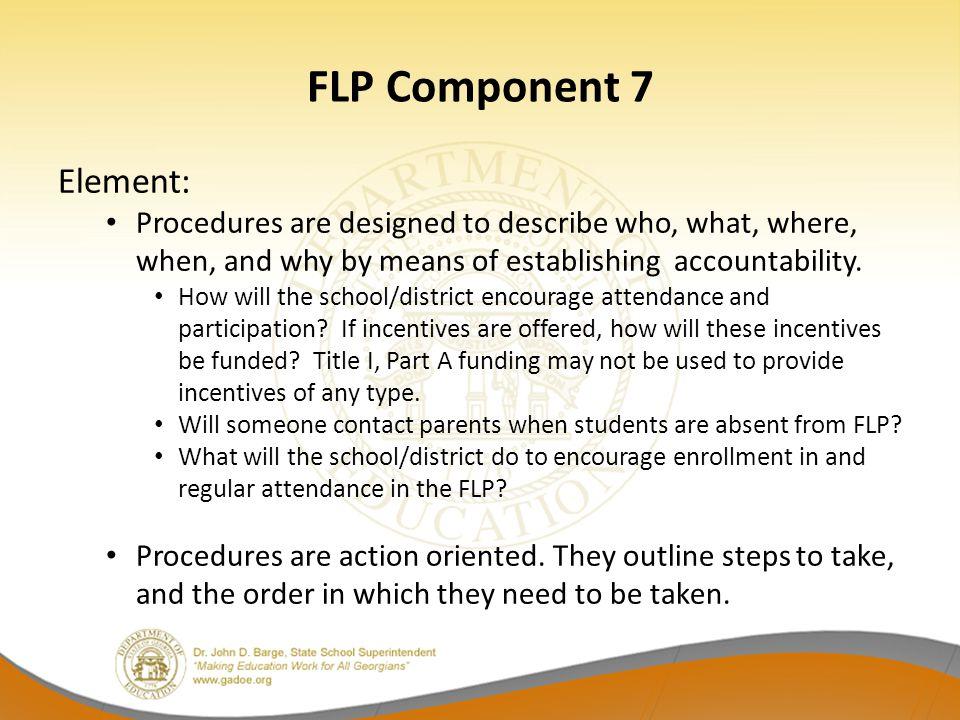FLP Component 7 Element: