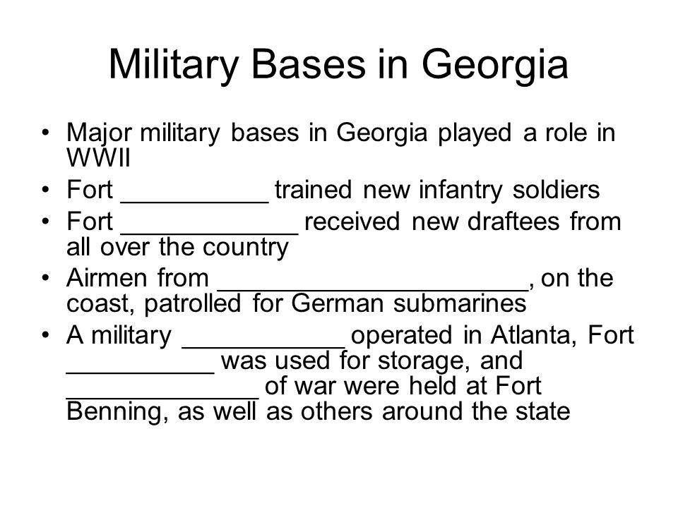 Military Bases in Georgia