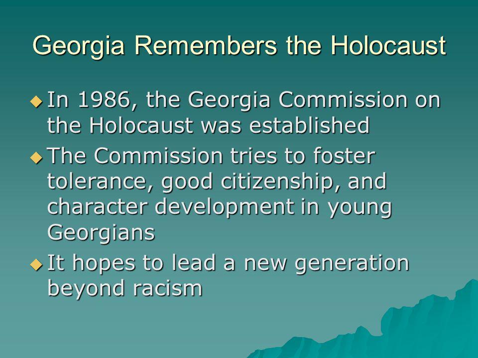 Georgia Remembers the Holocaust