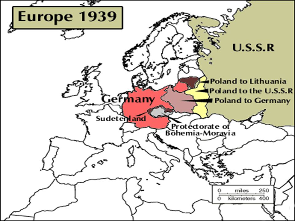 Events leading to WWII Hitler threatened war if the Sudetenland (part of Czechoslovakia) were not turned over to Germany.