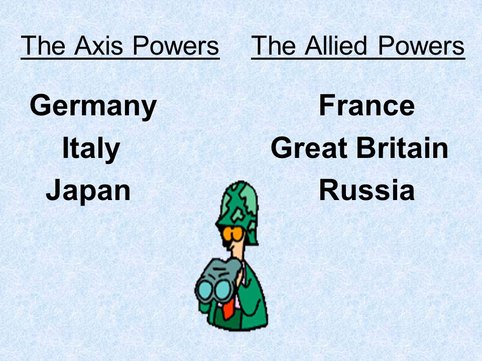 The Axis Powers The Allied Powers