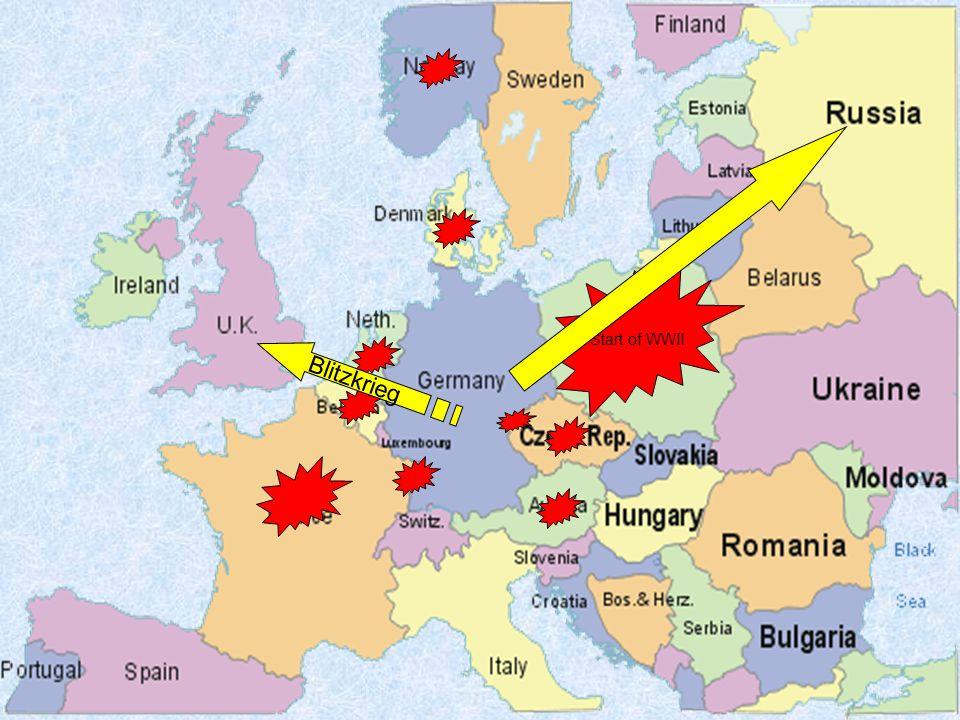 Start of WWII Blitzkrieg
