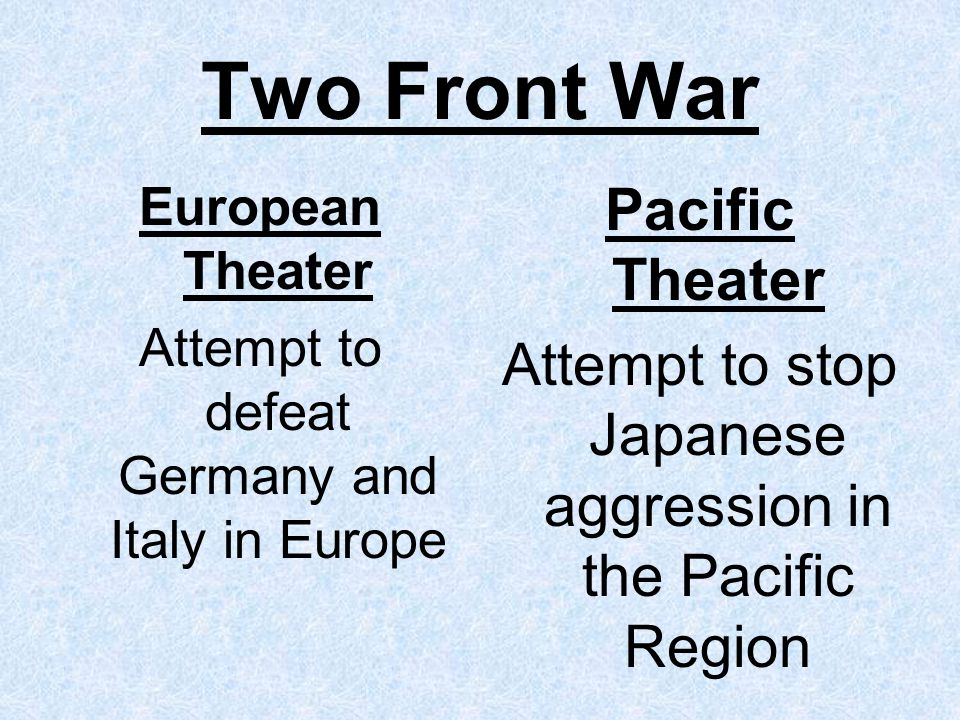 Two Front War Pacific Theater