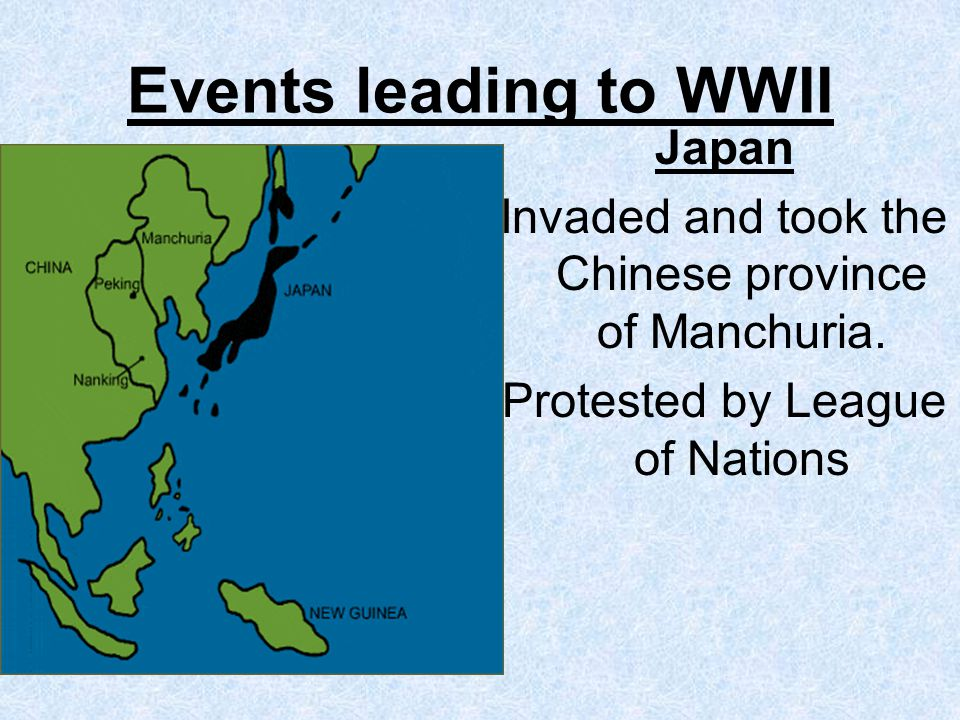 Events leading to WWII Japan