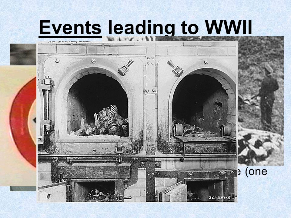Events leading to WWII Hitler Destroyed the Republic Persecuted Jews