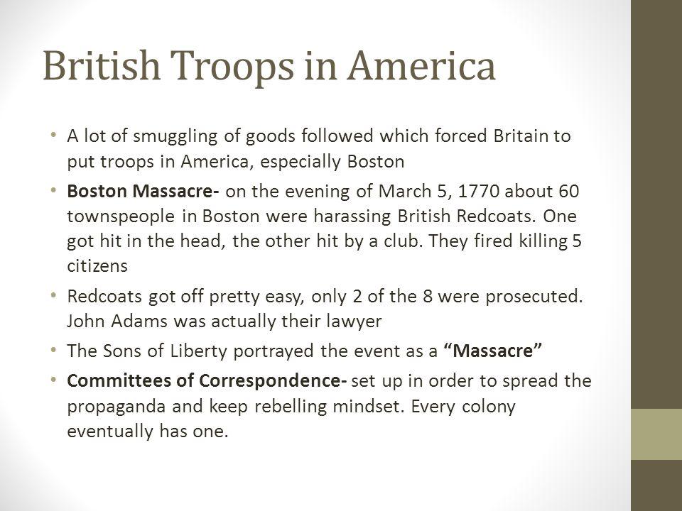 British Troops in America