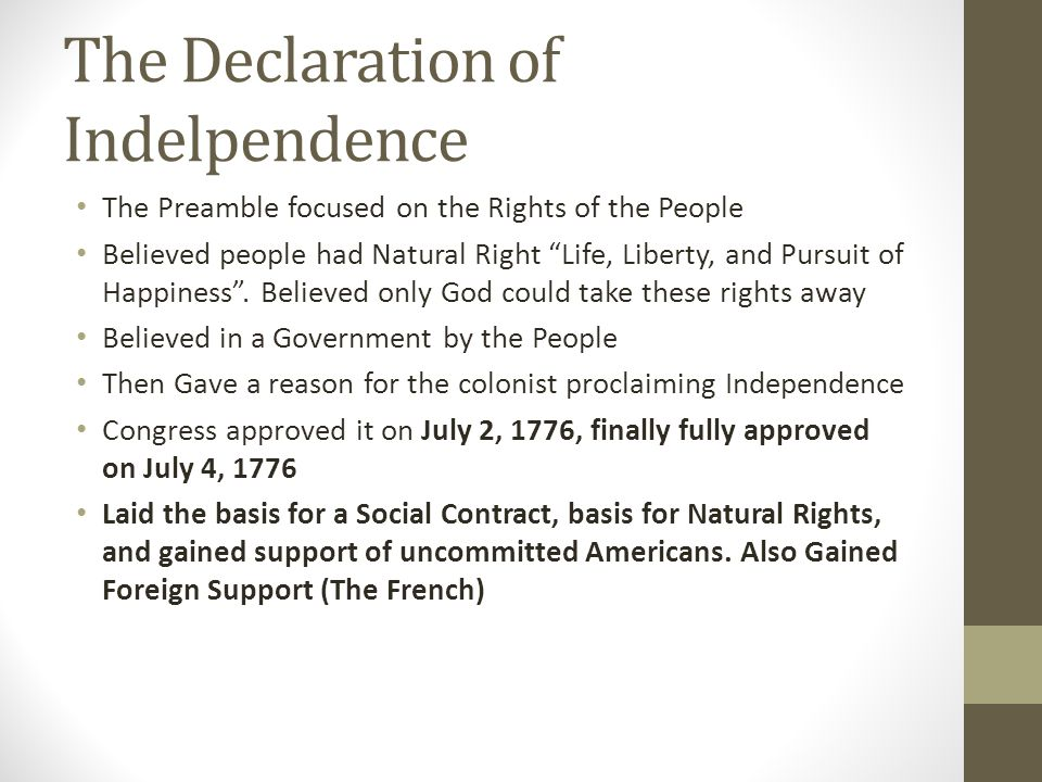 The Declaration of Indelpendence