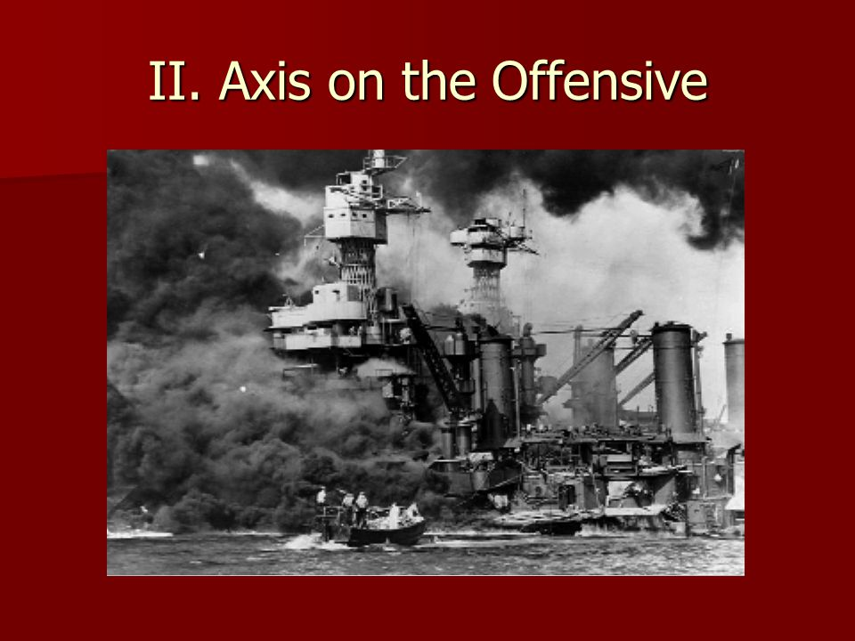 II. Axis on the Offensive