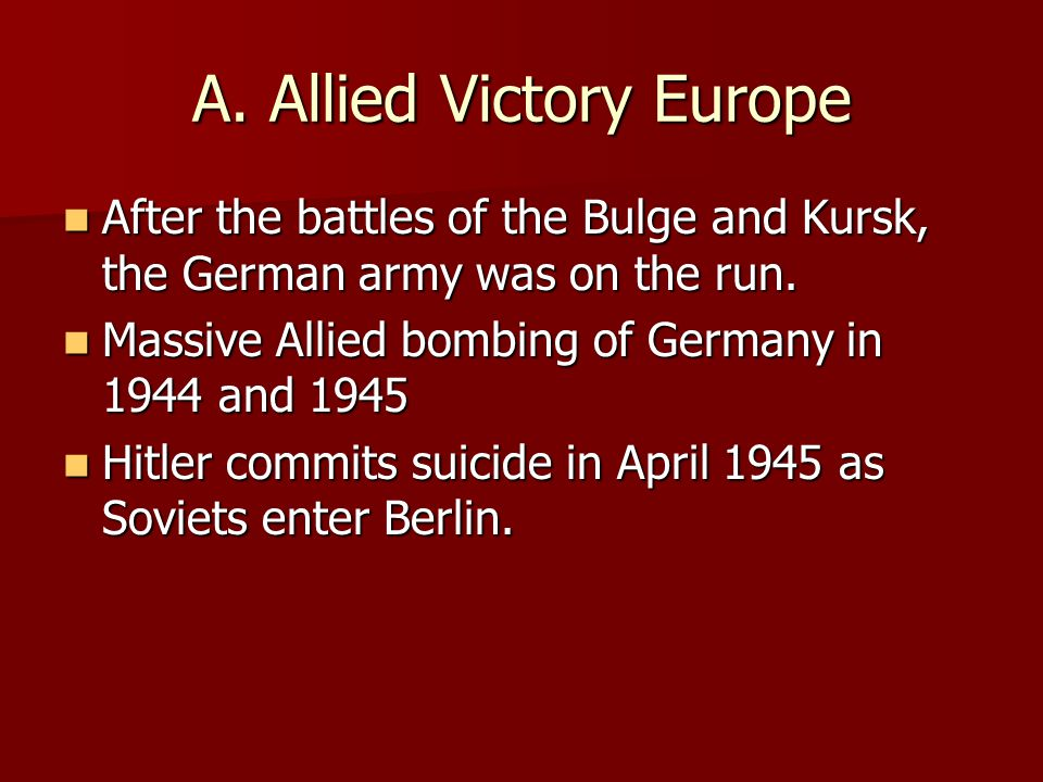 A. Allied Victory Europe