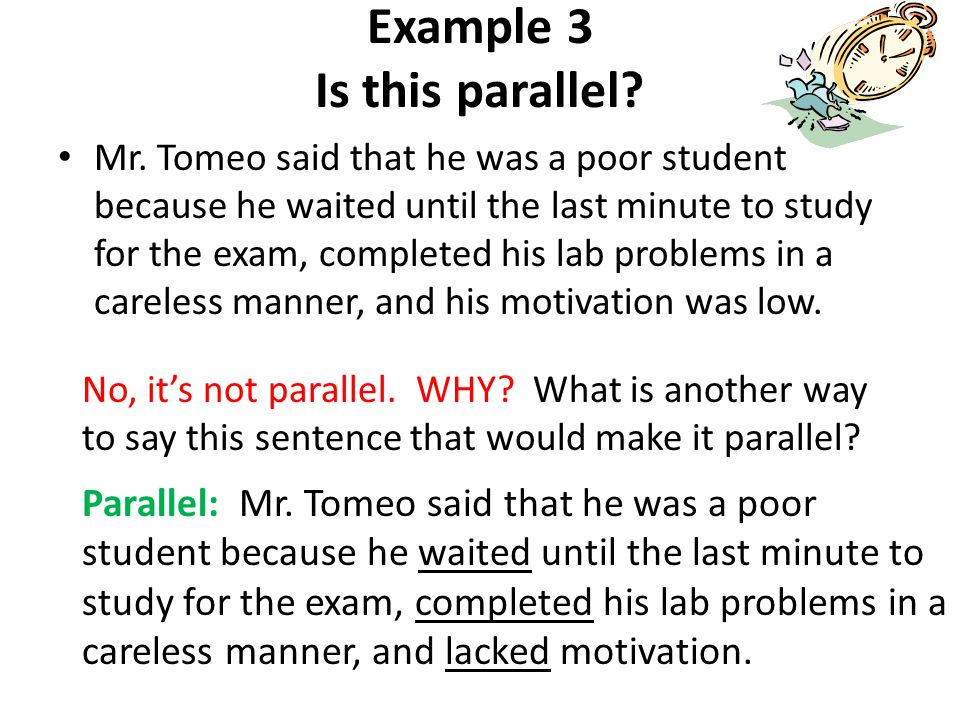 Example 3 Is this parallel