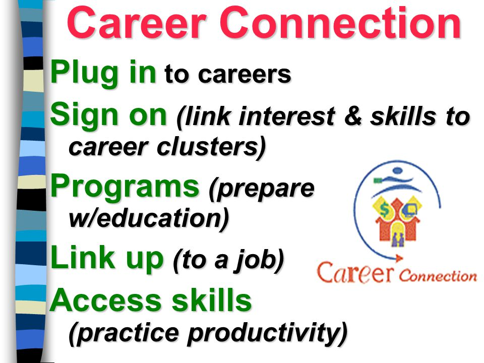 Career Connection Plug in to careers