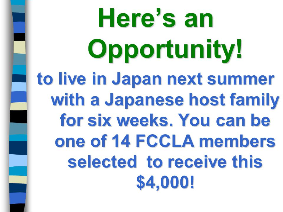 Here's an Opportunity!