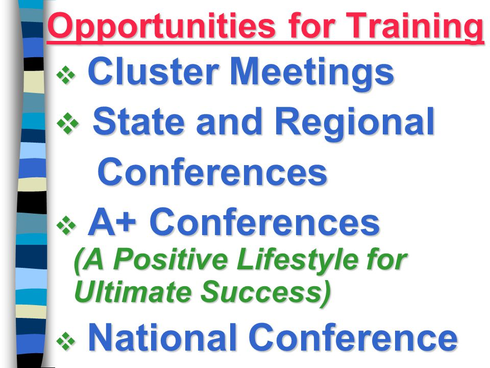 Opportunities for Training