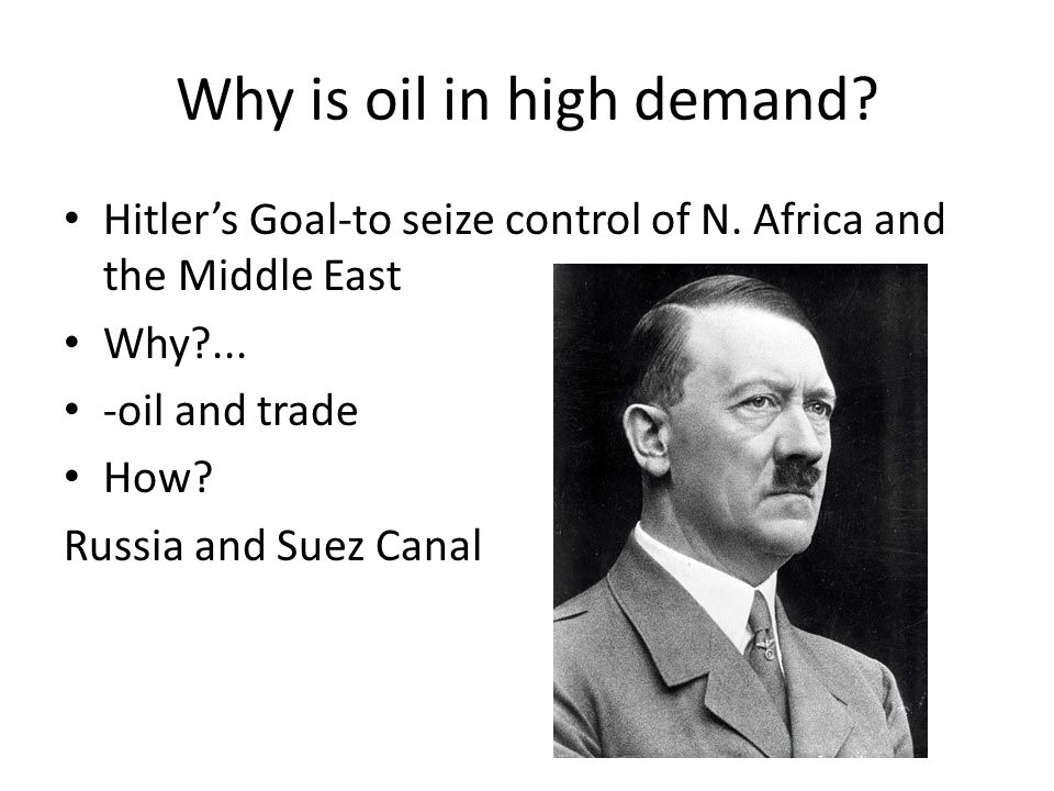 Why is oil in high demand