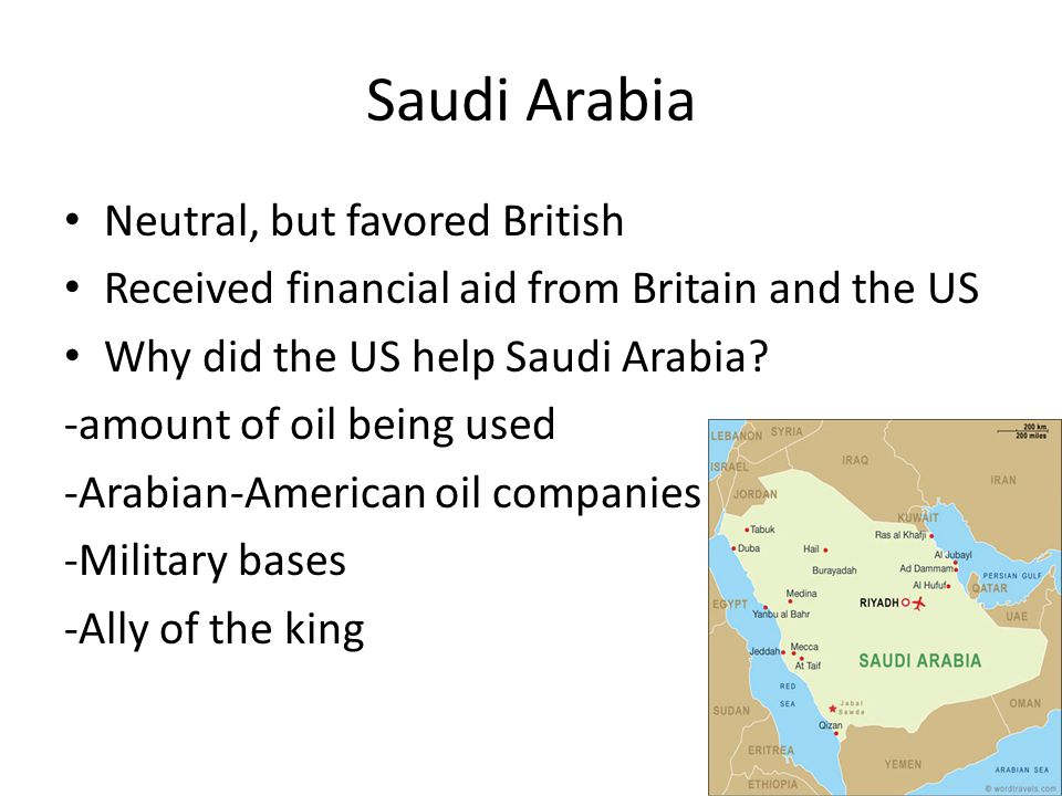 Saudi Arabia Neutral, but favored British