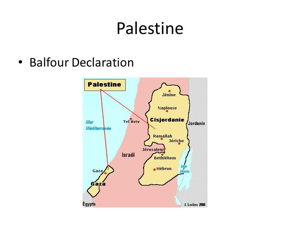 Palestine Balfour Declaration