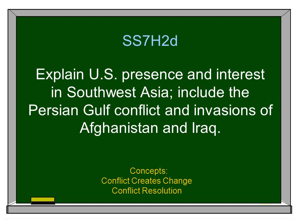 Concepts: Conflict Creates Change Conflict Resolution
