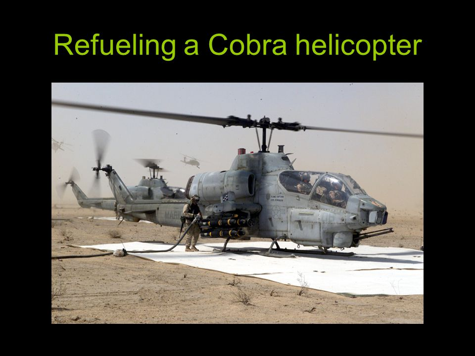 Refueling a Cobra helicopter