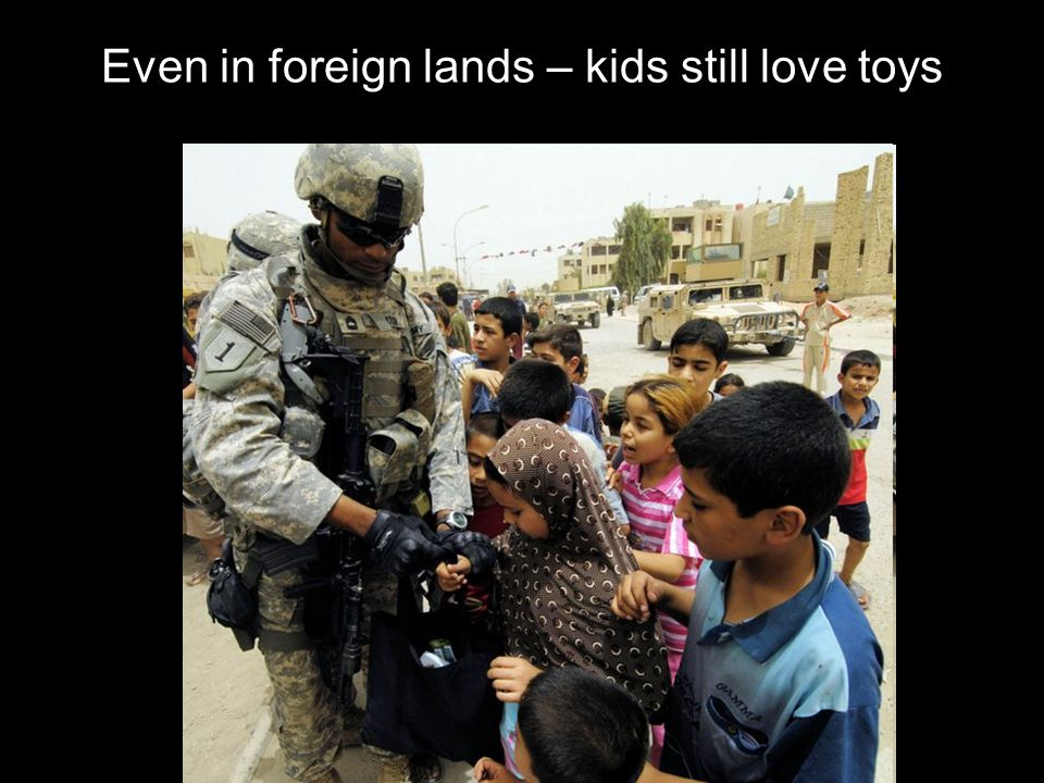 Even in foreign lands – kids still love toys