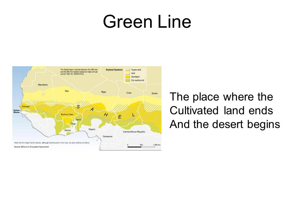 Green Line The place where the Cultivated land ends