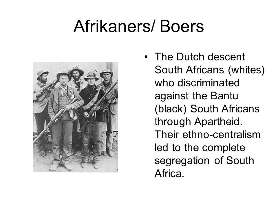 Afrikaners/ Boers