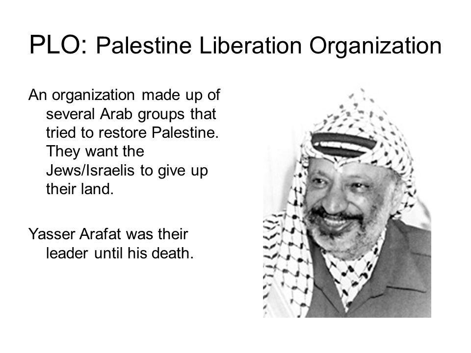 PLO: Palestine Liberation Organization