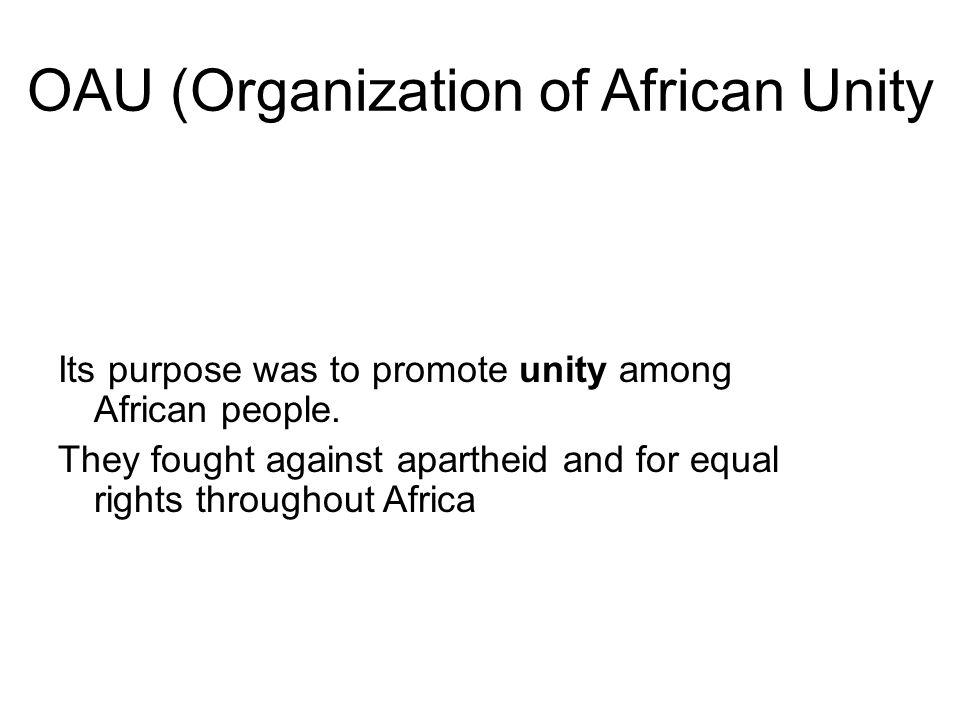 OAU (Organization of African Unity