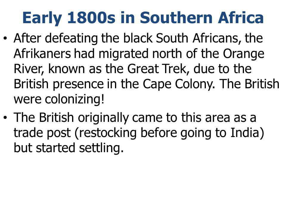 Early 1800s in Southern Africa