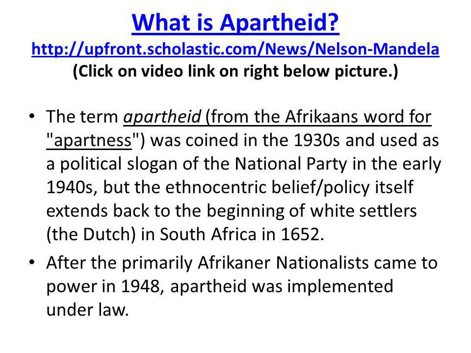 What is Apartheid. http://upfront. scholastic