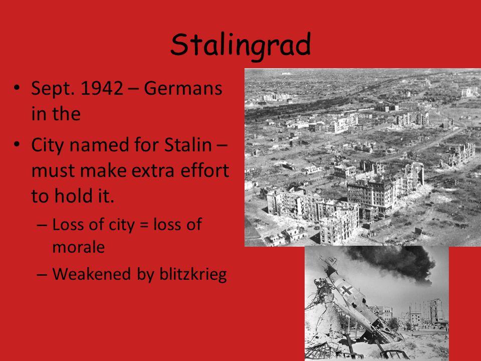 Stalingrad Sept. 1942 – Germans in the