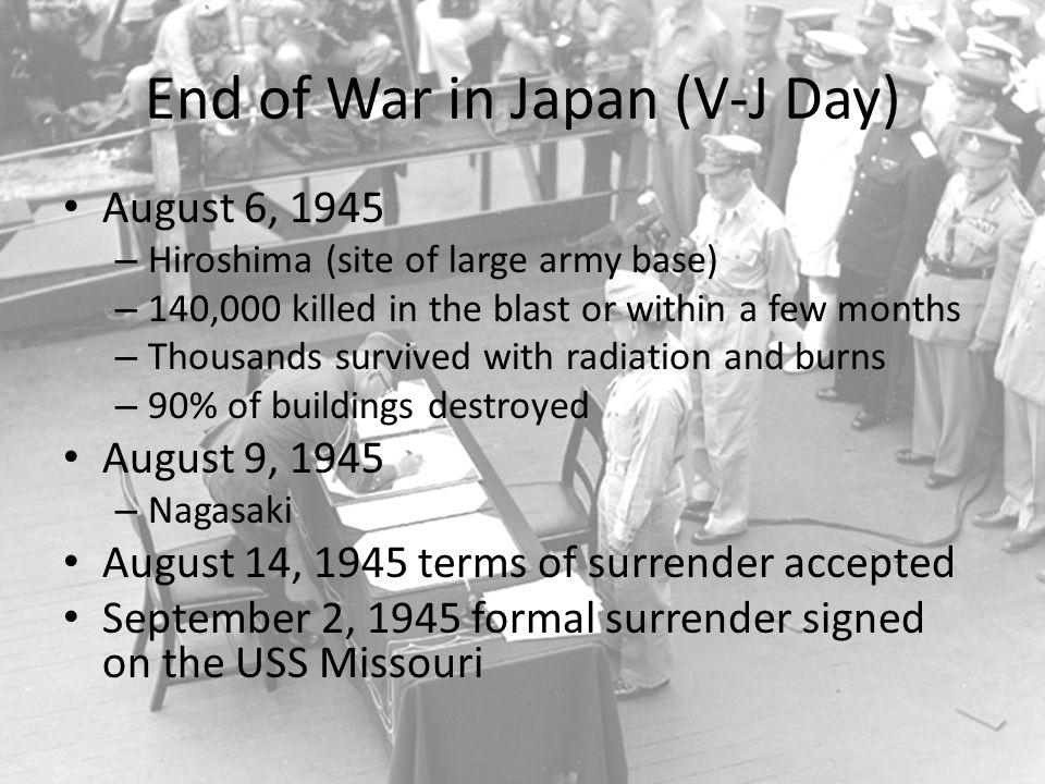 End of War in Japan (V-J Day)