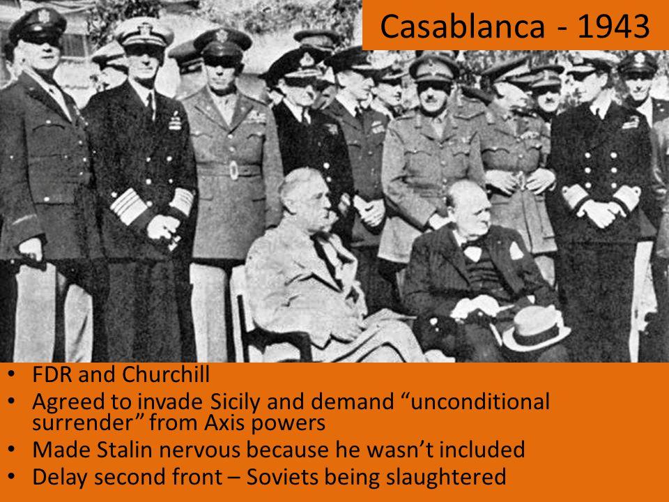 Casablanca - 1943 FDR and Churchill